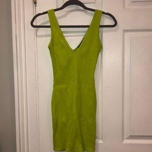 Naked wardrobe lime green dress